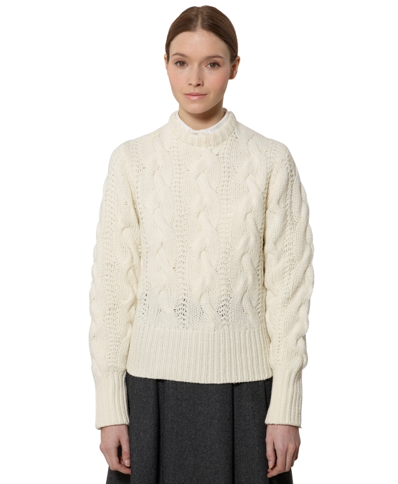 Fisherman Cable Sweater Natural