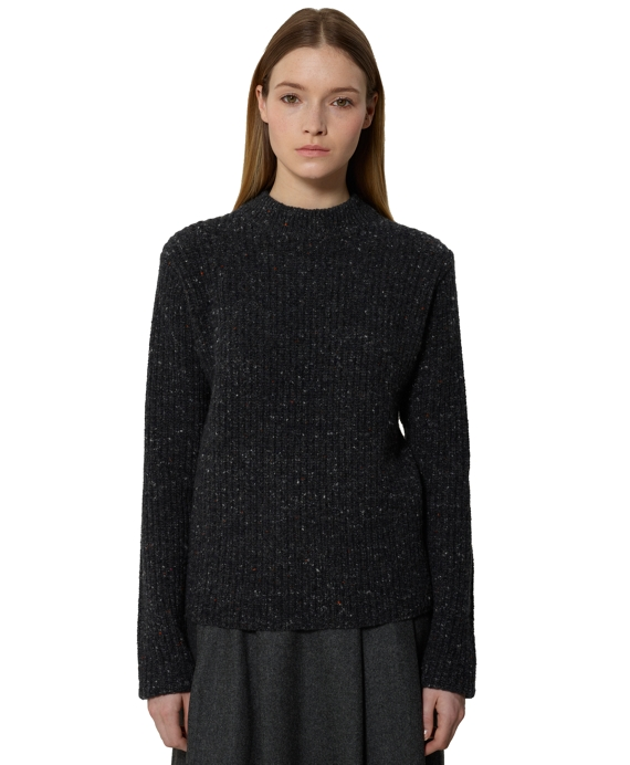 Cardigan Stitch Crewneck Charcoal