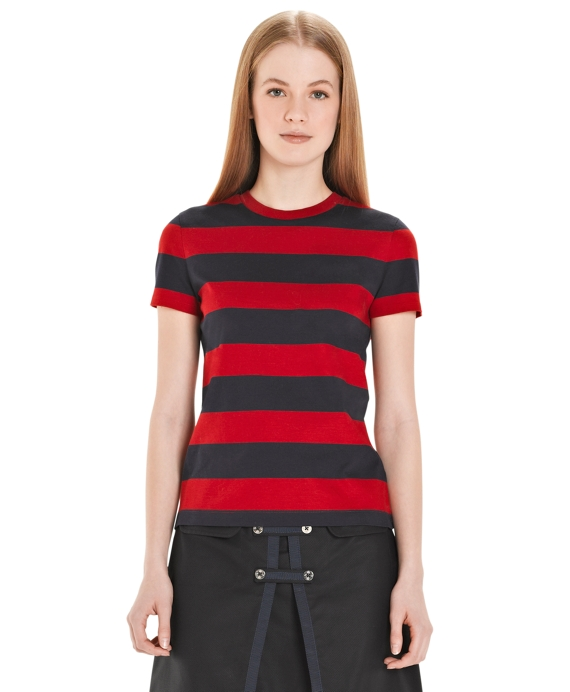 Short-Sleeve Stripe T-Shirt Red-Navy