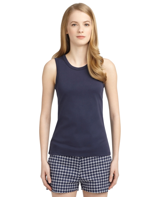 COTTON SOLID TANK Navy