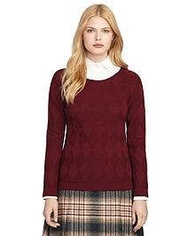 Wool Argyle Sweater