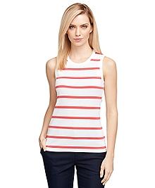 Sleeveless Stripe Knit