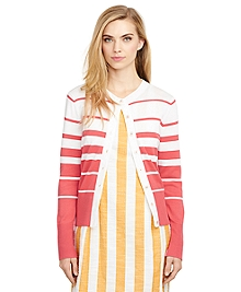 Cotton Stripe Cardigan