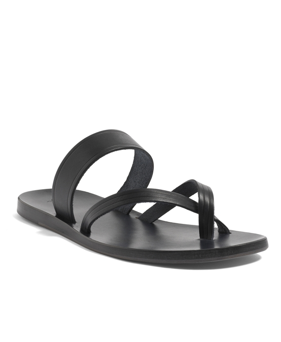 Leather Sandal Navy