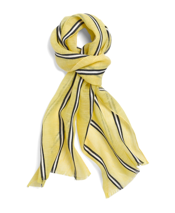 Striped Scarf Yellow Multi