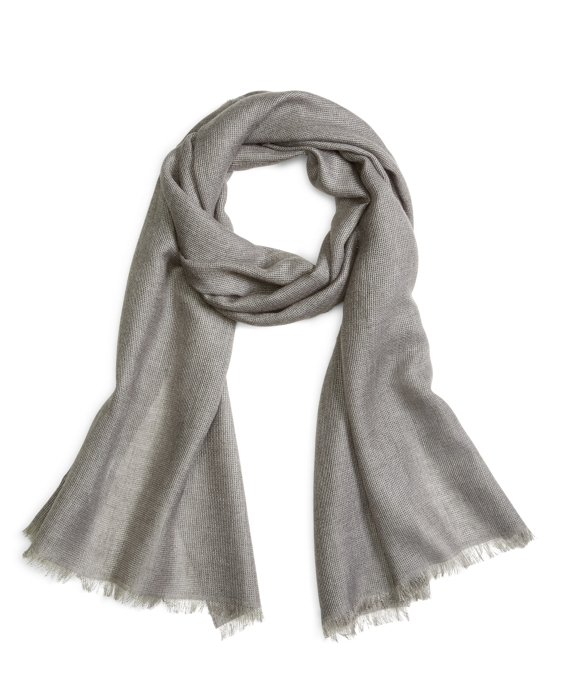 KNIT SCARF Grey