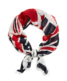 SILK FLAG SCARF