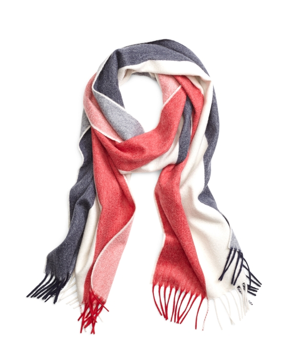 Multistripe Scarf Navy-White-Red