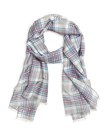 Silk and Cotton Madras Scarf