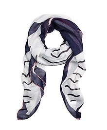 Cotton and Silk Sailboat Scarf