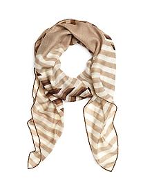 Cashmere and Silk Multistripe Scarf