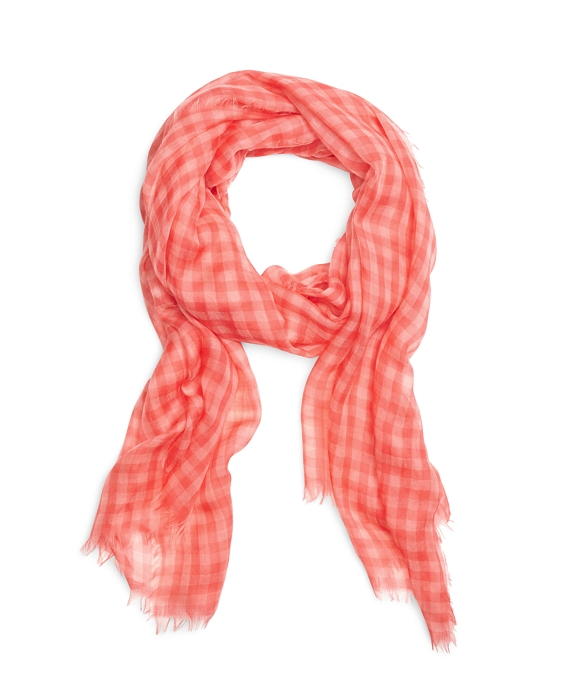Cashmere Gingham Scarf Pink