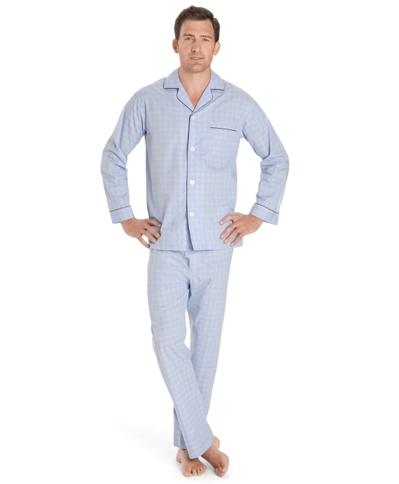 Glen Plaid Pajamas Blue