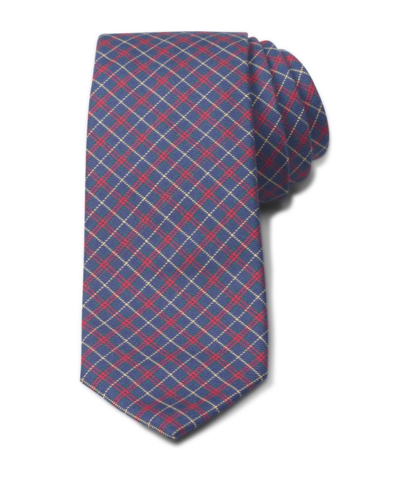 Twill Check Tie Navy