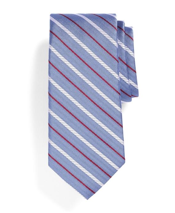 Rope Stripe Tie Blue