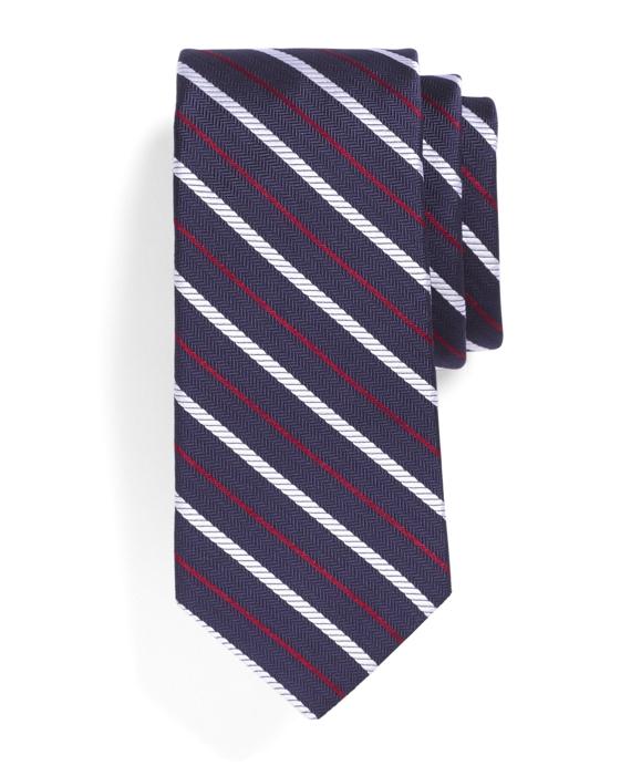 Rope Stripe Tie Navy