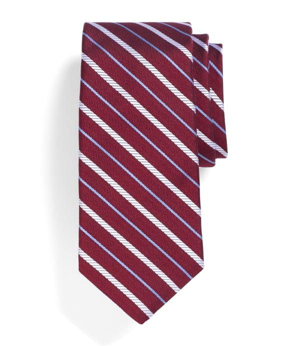Rope Stripe Tie Red