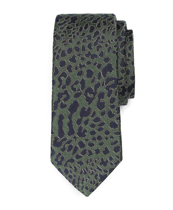 Silk Camo Tie Dark Green