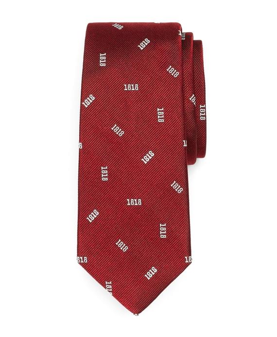 Silk 1818 Tie Red