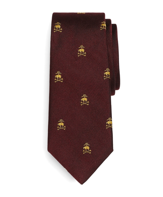 Golden Fleece® Crossbones Tie Burgundy