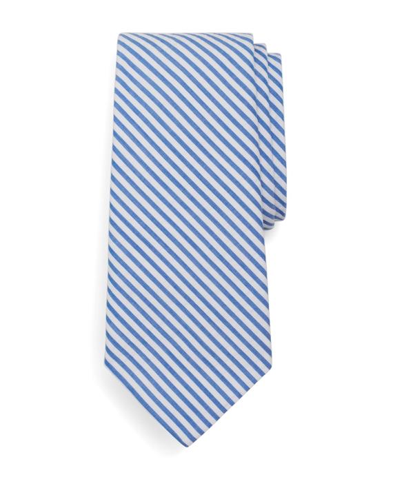 Seersucker Tie Blue