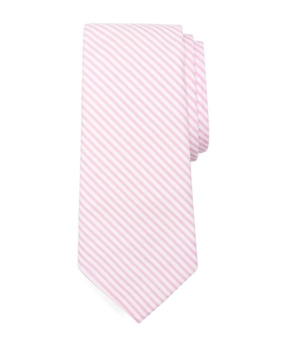 Seersucker Tie Pink