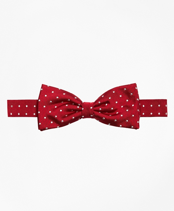 Dot Pre-Tied Bow Tie Red