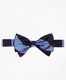 Argyle Sutherland Stripe Pre-Tied Bow Tie