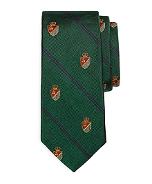 Golden Fleece® Crest Striped Tie