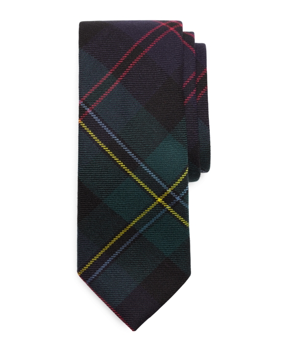 Malcolm Plaid Tie Green Multi