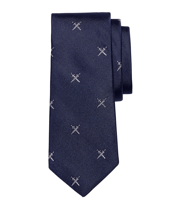 Allover Swords Tie Navy