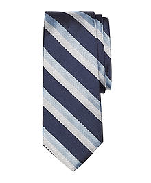 Double Herringbone Stripe Silk Tie