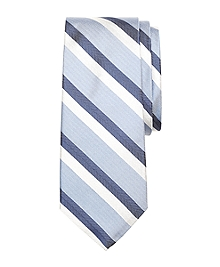 Double Herringbone Stripe Silk Tie