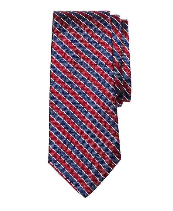 Framed Stripe Silk Tie