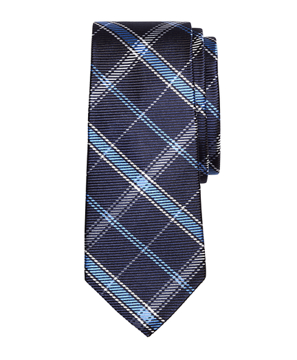 Windowpane Plaid Silk Tie