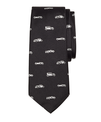Novelty Vintage Car Silk Tie