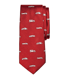 Novelty Vintage Car Silk Tie