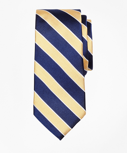 Herringbone Stripe Silk Tie