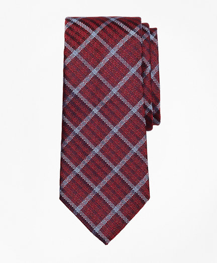 Windowpane Check Silk Tie