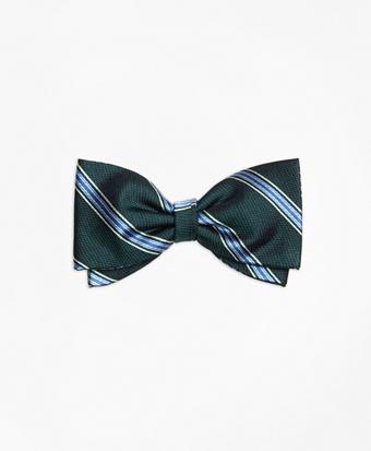 Stripe Pre-Tied Bow Tie
