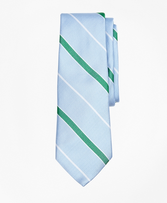 Framed Stripe Tie Light Blue