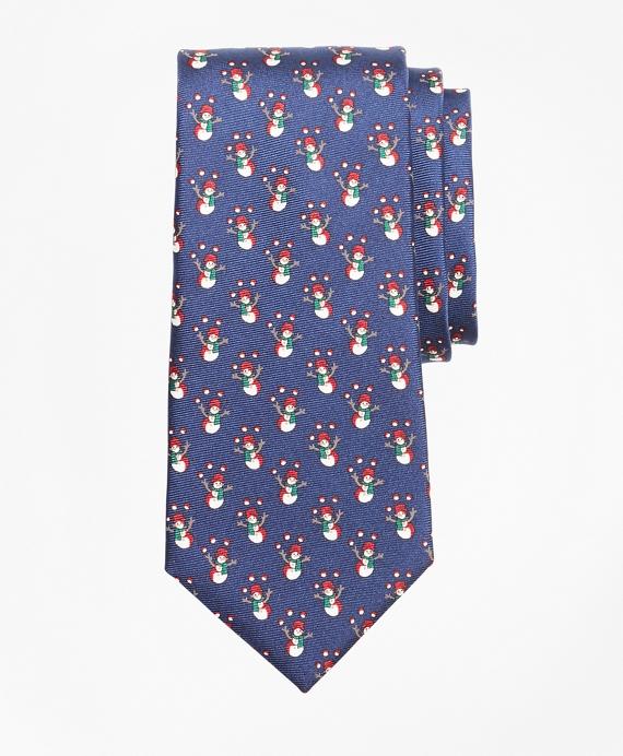 Snowman Print Tie