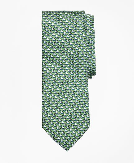 Sailboat Print Tie