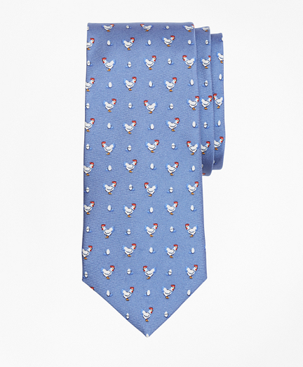 Chicken and Egg Print Tie