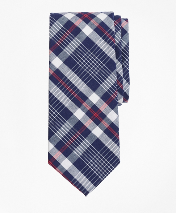 Plaid Tie Navy