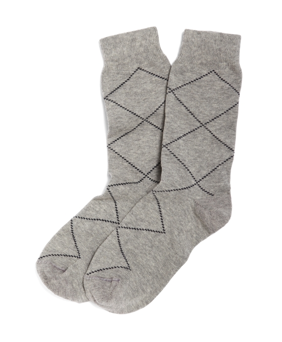 Raker Argyle Socks Grey