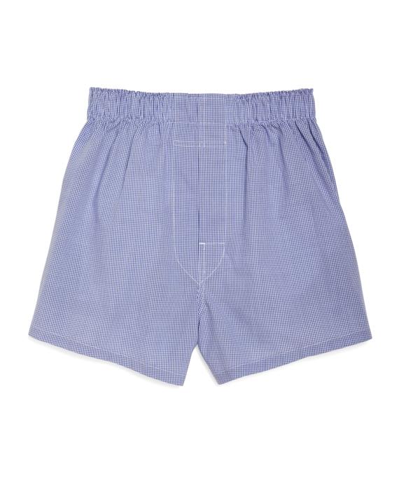 Mini Check Boxers Blue