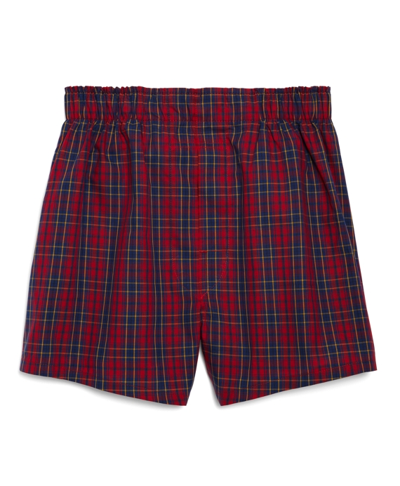 Red Tartan Boxers Red