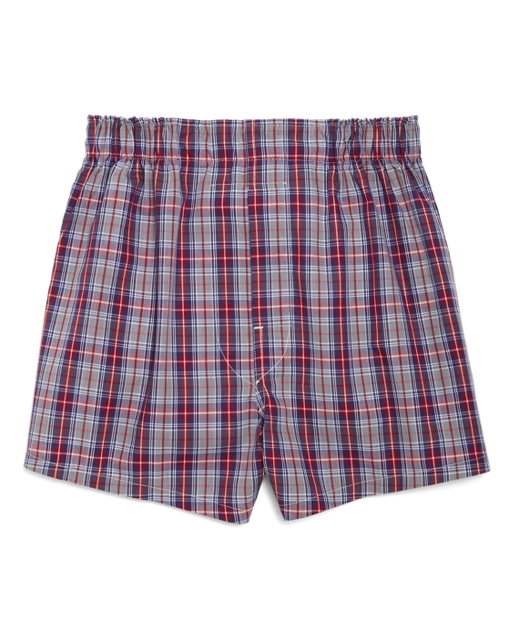 Exploded Plaid Boxers Grey