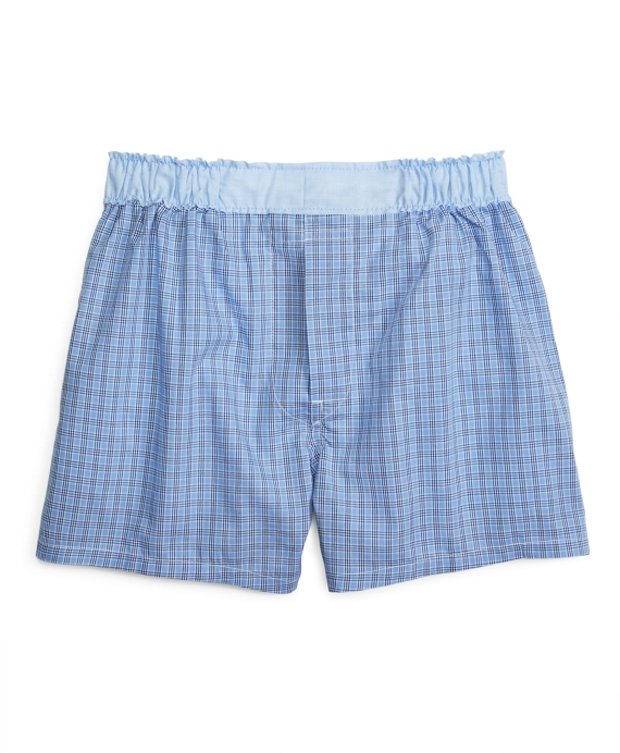 Plaid Boxers Light Blue